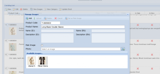 Catalog Management User Interface